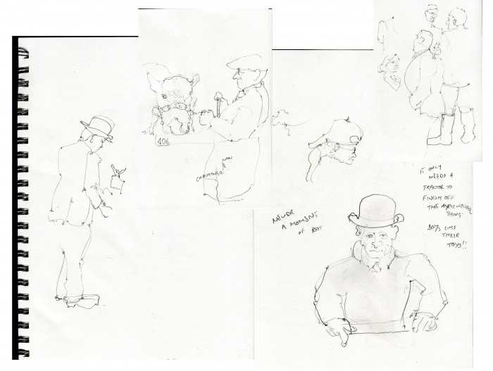 Royal Norfolk Show, country life, best in show, audience sketches